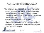 psst what internet backbone
