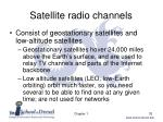 satellite radio channels