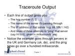 traceroute output1