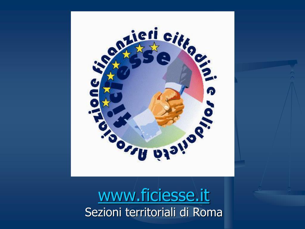 www ficiesse it sezioni territoriali di roma l.