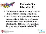content of the education kit