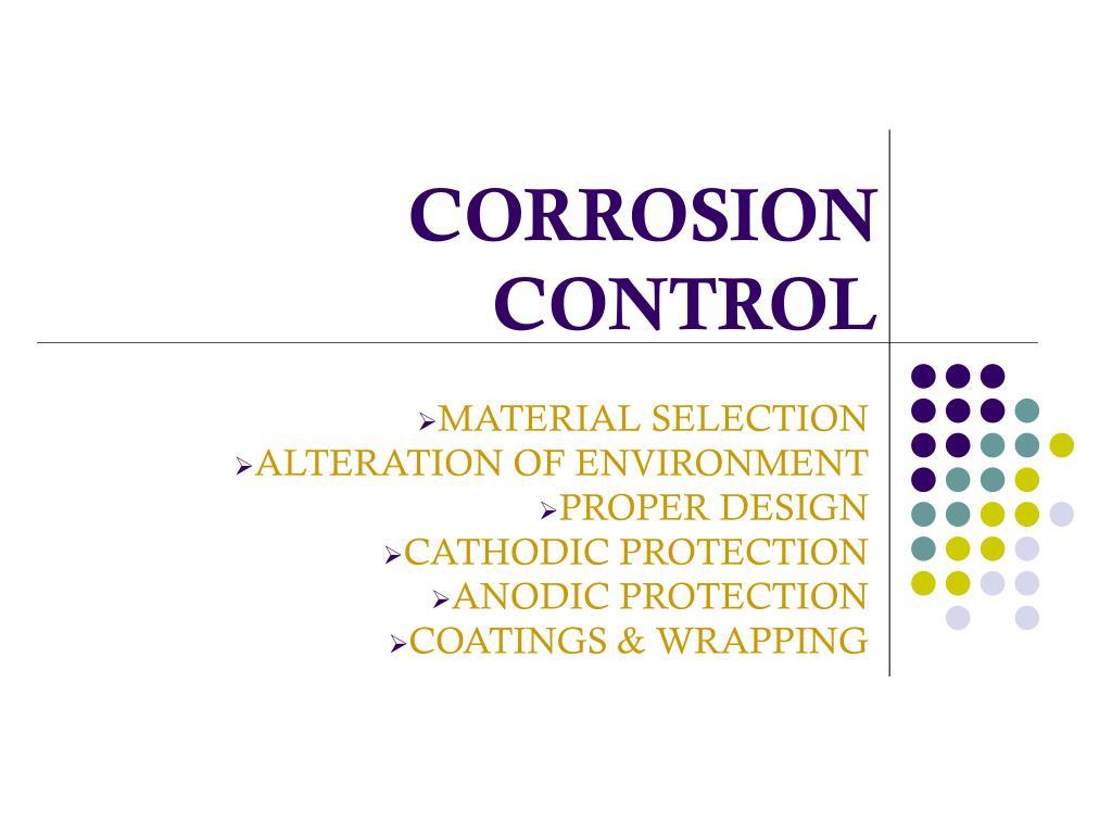 corrosion control l.