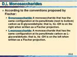 d l monosaccharides8