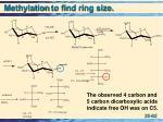 methylation to find ring size