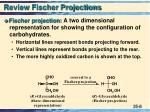 review fischer projections