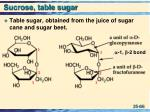 sucrose table sugar
