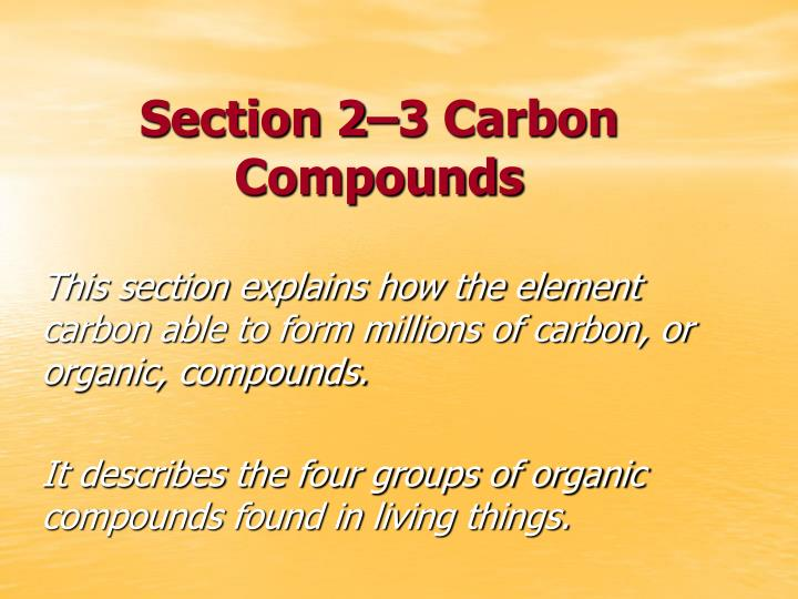 section 2 3 carbon compounds n.