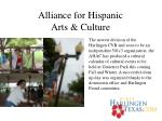 alliance for hispanic arts culture