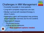 challenges in mm management