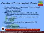 overview of thromboembolic events