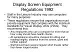 display screen equipment regulations 1992