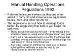 manual handling operations regulations 1992