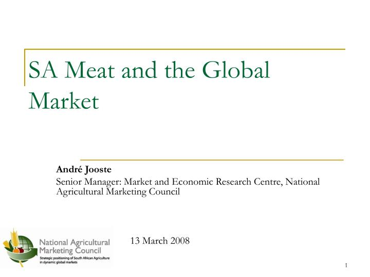 sa meat and the global market n.