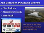 acid deposition and aquatic systems