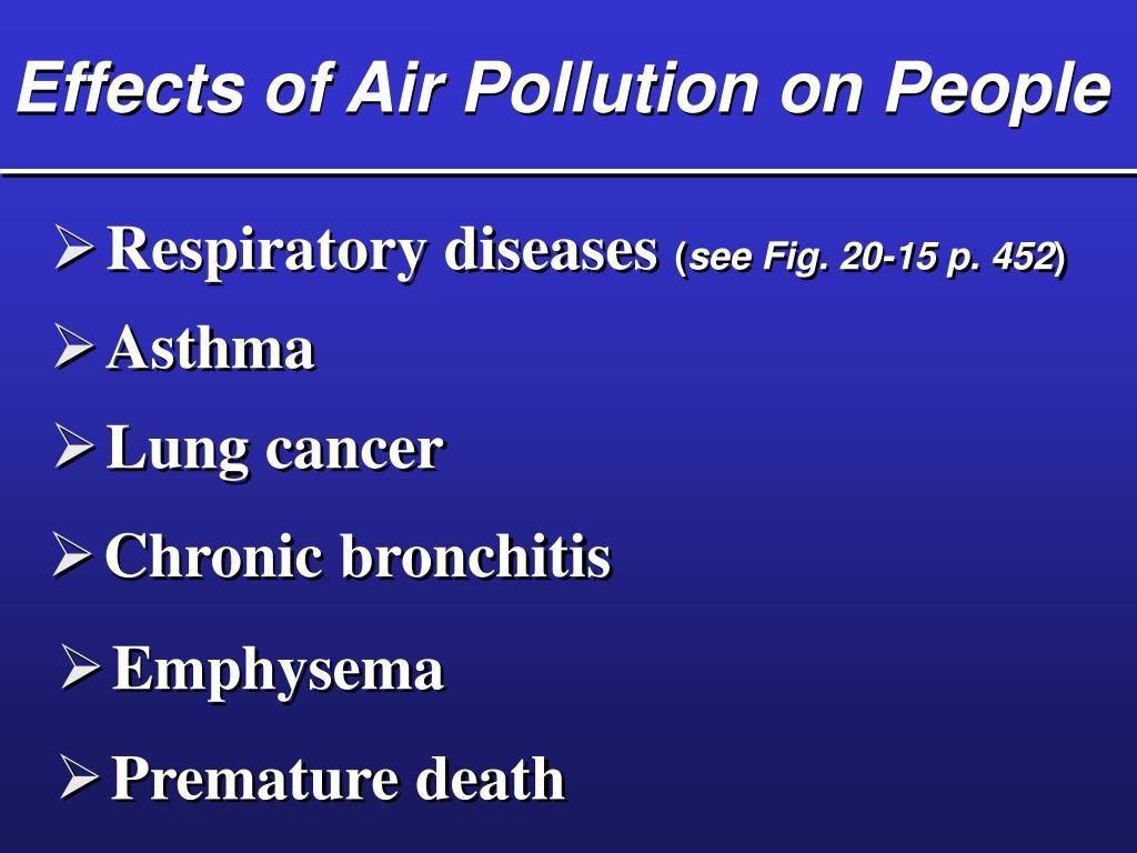 Effects of Air Pollution on People