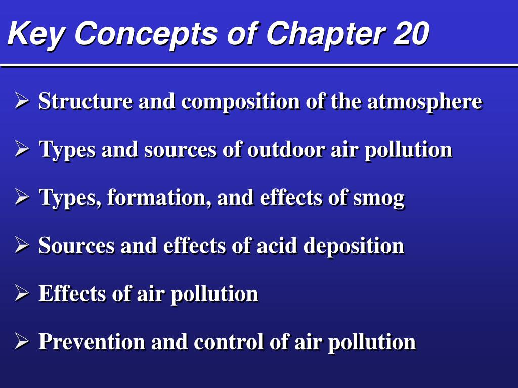 Key Concepts of Chapter 20