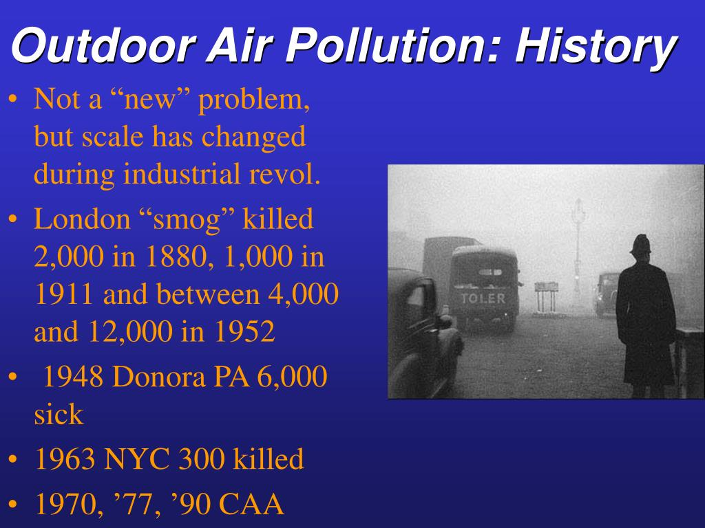 Outdoor Air Pollution: History
