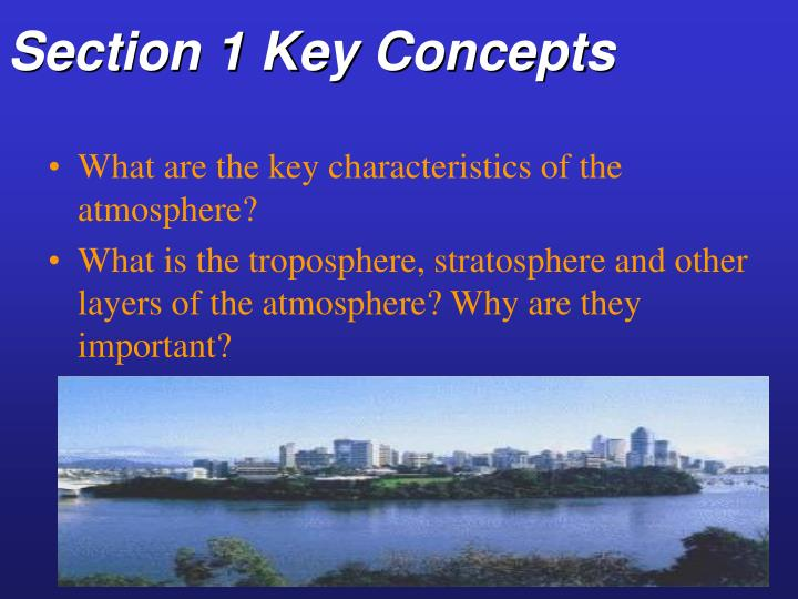 Section 1 key concepts