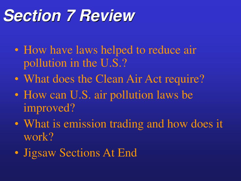 Section 7 Review