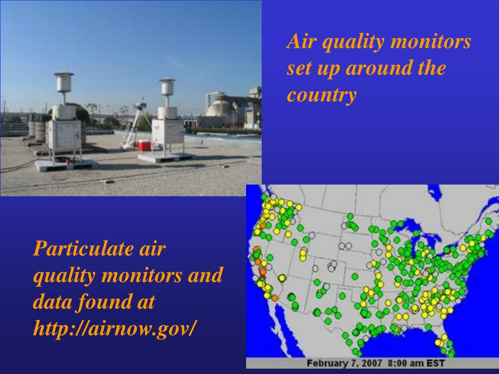 Air quality monitors set up around the country