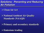 solutions preventing and reducing air pollution