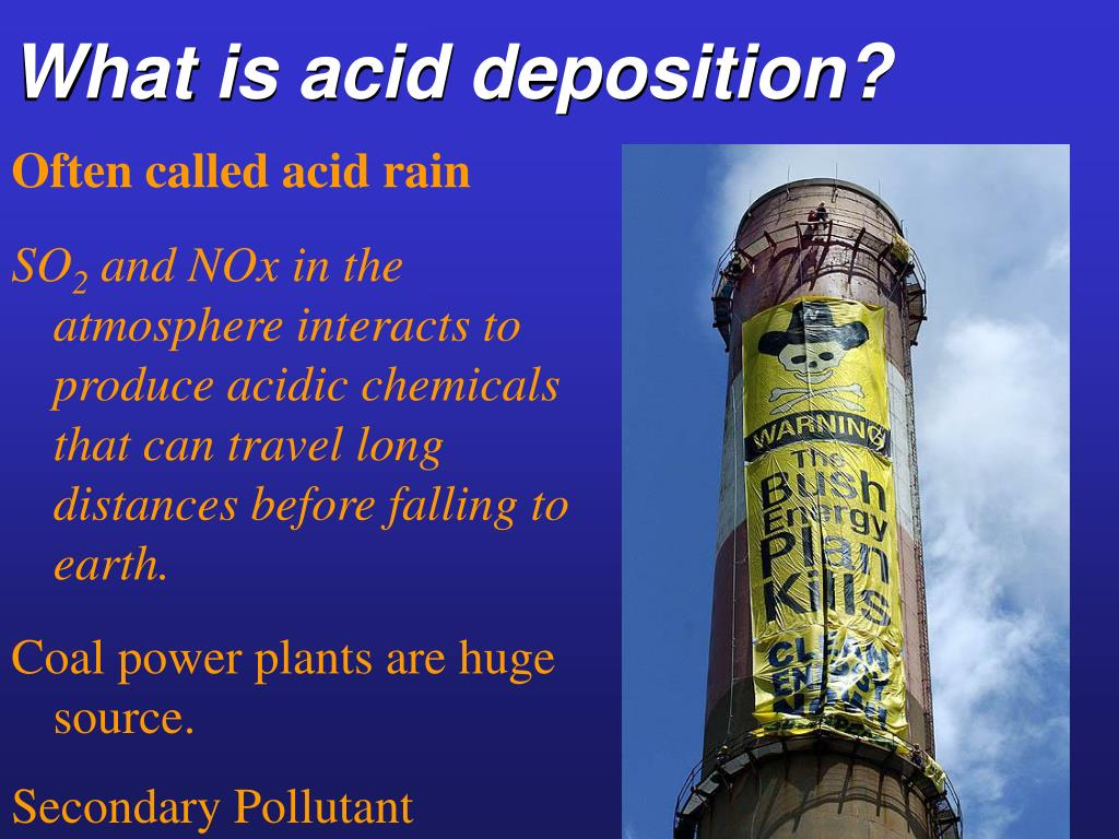 What is acid deposition?