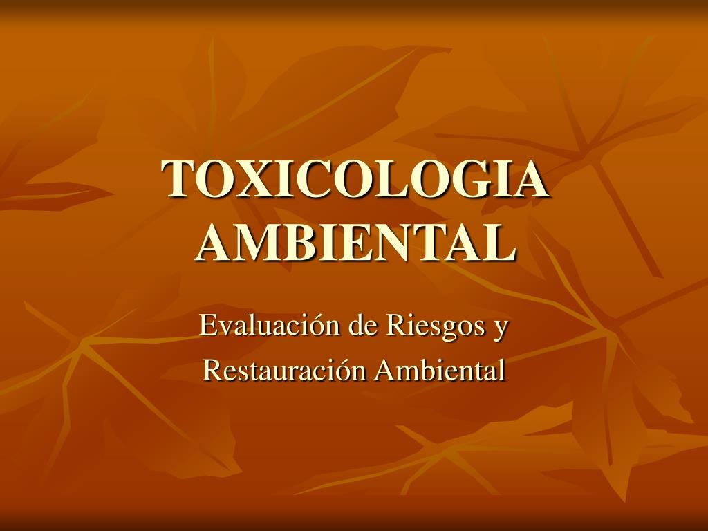 toxicologia ambiental l.