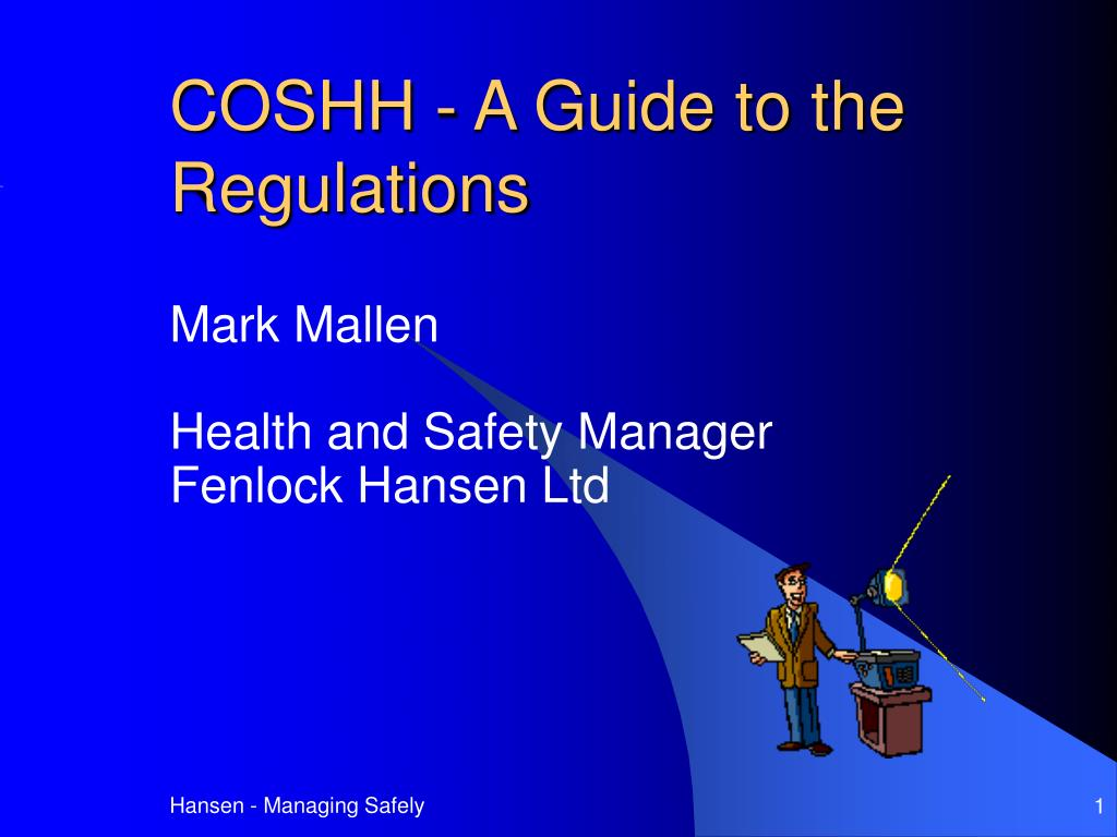 coshh a guide to the regulations l.