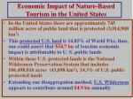 economic impact of nature based tourism in the united states