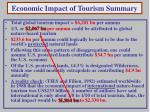 economic impact of tourism summary