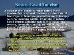 nature based tourism
