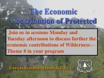 the economic contribution of protected natural landscapes through tourism36