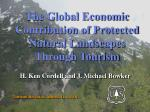 the global economic contribution of protected natural landscapes through tourism