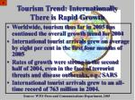 tourism trend internationally there is rapid growth