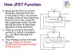 how jfet function12