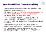 the field effect transistor fet