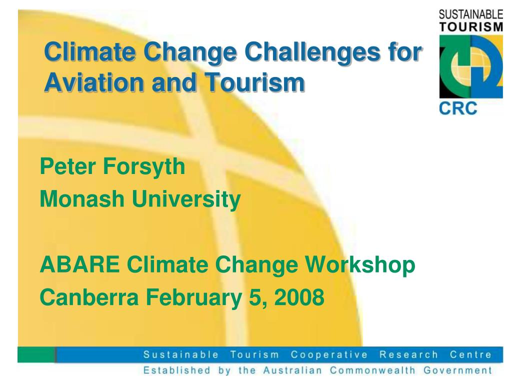 climate change challenges for aviation and tourism l.