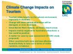 climate change impacts on tourism