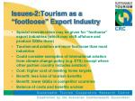 issues 2 tourism as a footloose export industry