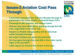 issues 3 aviation cost pass through