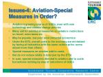 issues 4 aviation special measures in order