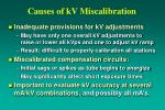 causes of kv miscalibration