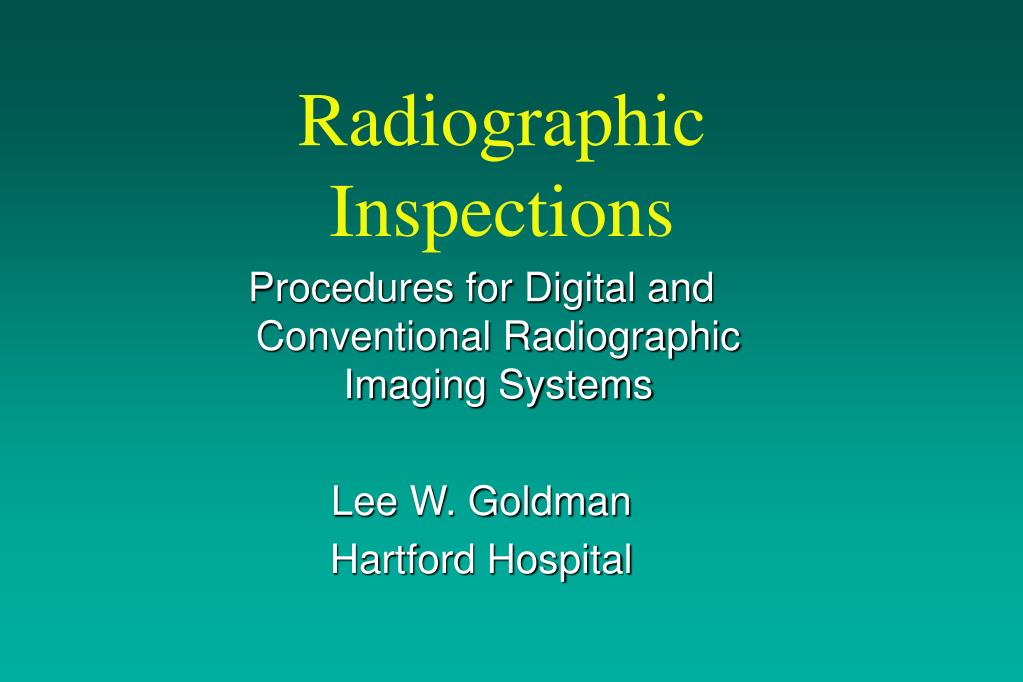 radiographic inspections l.