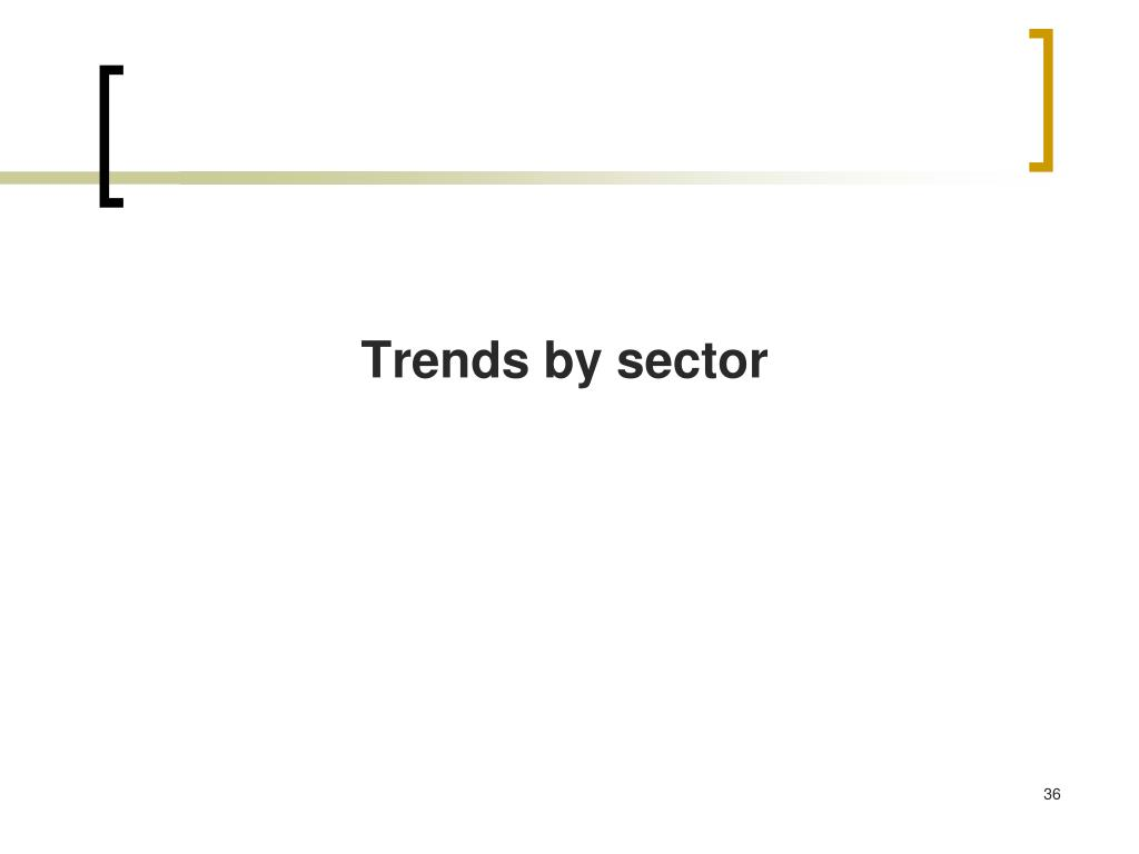 Trends by sector