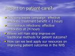 impact on patient care