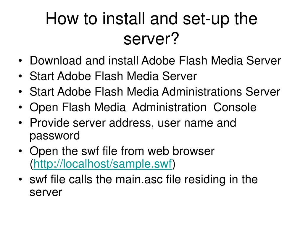 How to install and set-up the server?