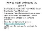 how to install and set up the server