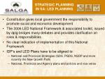 strategic planning in sa led planning