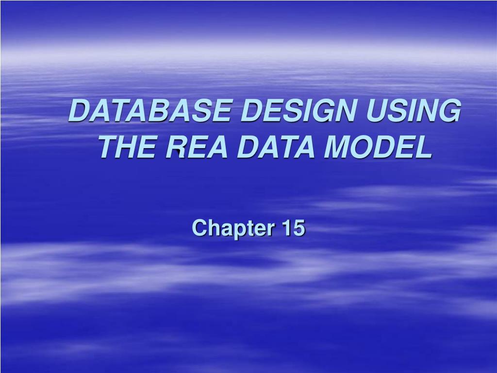 database design using the rea data model l.