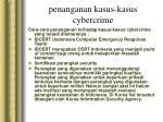 penanganan kasus kasus cybercrime